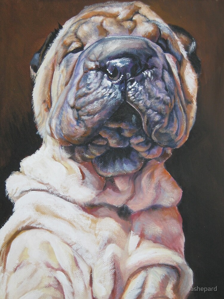 Chinese Shar Pei Fine Art Painting by lashepard