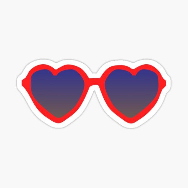 red heart sunglasses Sticker