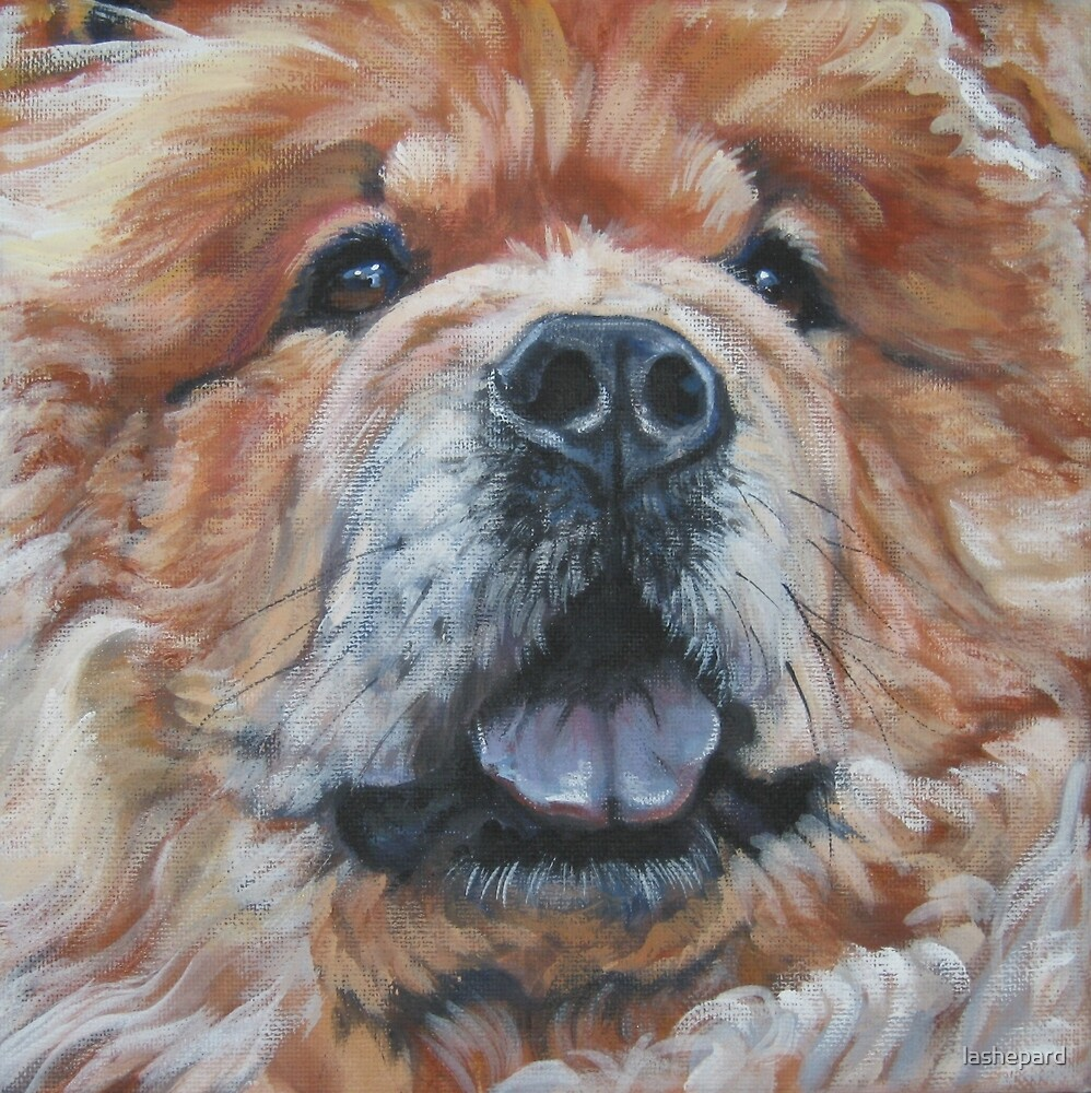 Chow Chow Fine Art Painting by lashepard