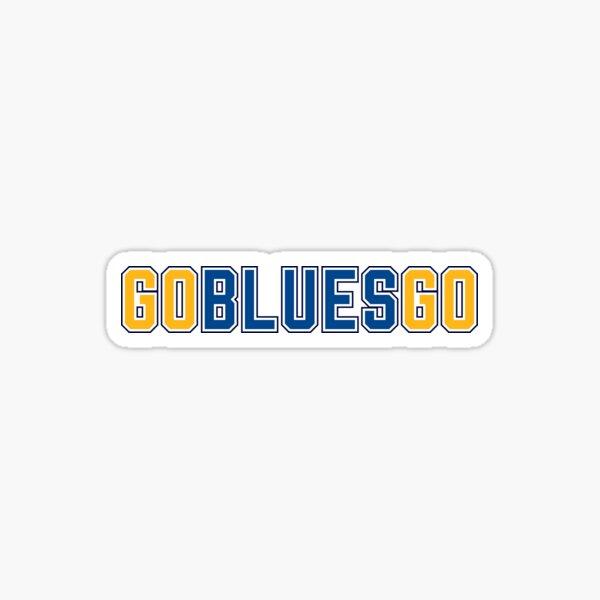 Go Blues Sticker Sticker
