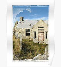 Derelict Croft, Shetland Islands Poster