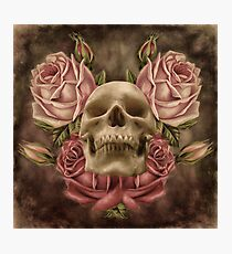 Skull And Rose's 2 Photographic Print
