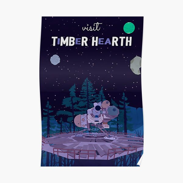 Timber Hearth Travel Poster Poster