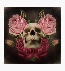 Skull And Rose's 3 Photographic Print