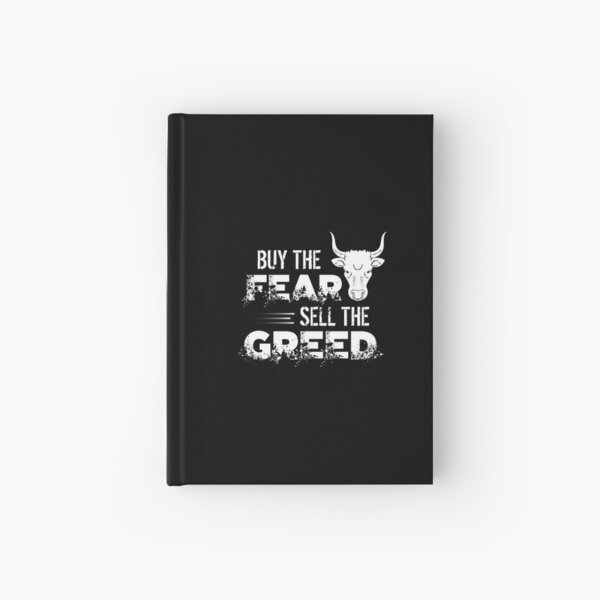 Buy The Fear, Sell The Greed Trading & Investing Hardcover Journal