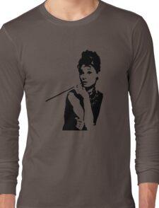 Audrey Hepburn Breakfast At Tiffanys Long Sleeve T-Shirt