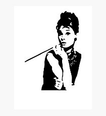 Audrey Hepburn Breakfast At Tiffanys Photographic Print