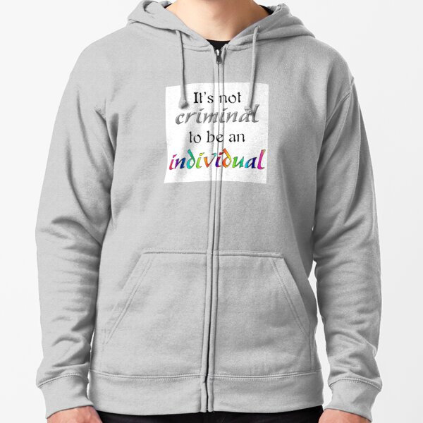 It's Not Criminal - Star Vs Quote Zipped Hoodie