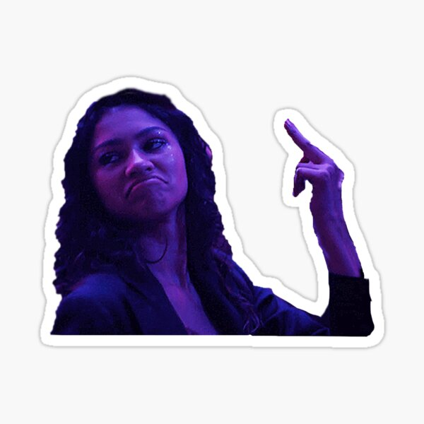 Rue (Zendaya) from Euphoria Middle Finger Sticker School Dance Sticker