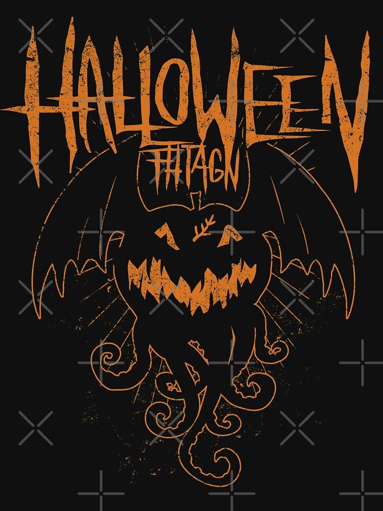Halloween Fhtagn - Orange Edition -  Eldritch Dreamer - Lovecraftian Cthulhu Mythos Wear von eldritchdreamer