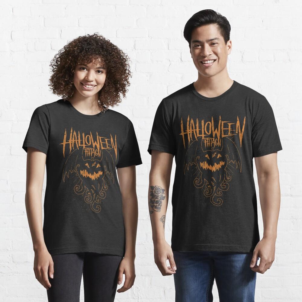 Halloween Fhtagn - Orange Edition -  Eldritch Dreamer - Lovecraftian Cthulhu Mythos Wear Essential T-Shirt