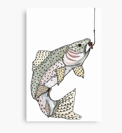 trout deja-vu Canvas Print
