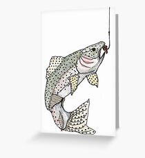 trout deja-vu Greeting Card