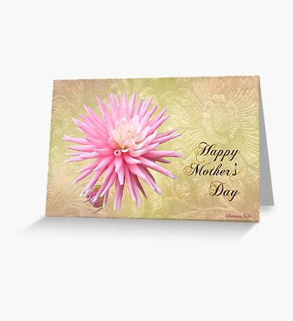 Pink Mum with Little Bud ~ for Mom Greeting Card
