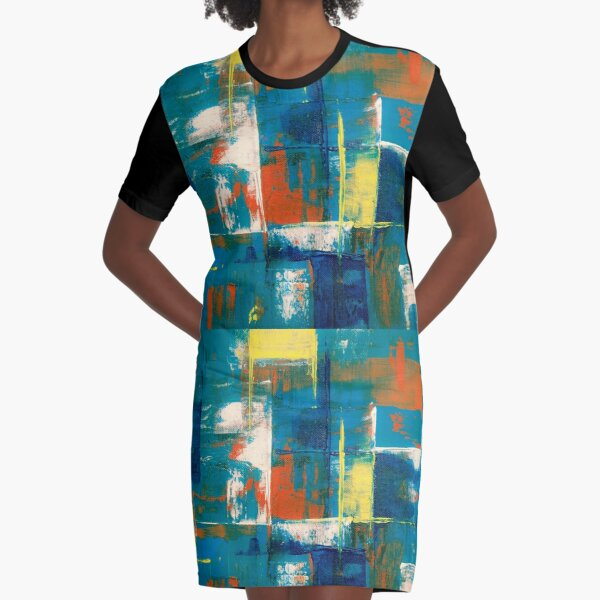 mixed paint  Graphic T-Shirt Dress