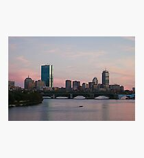 Pink Skies in Boston Photographic Print