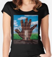Searching For The Magic Door Women's Fitted Scoop T-Shirt
