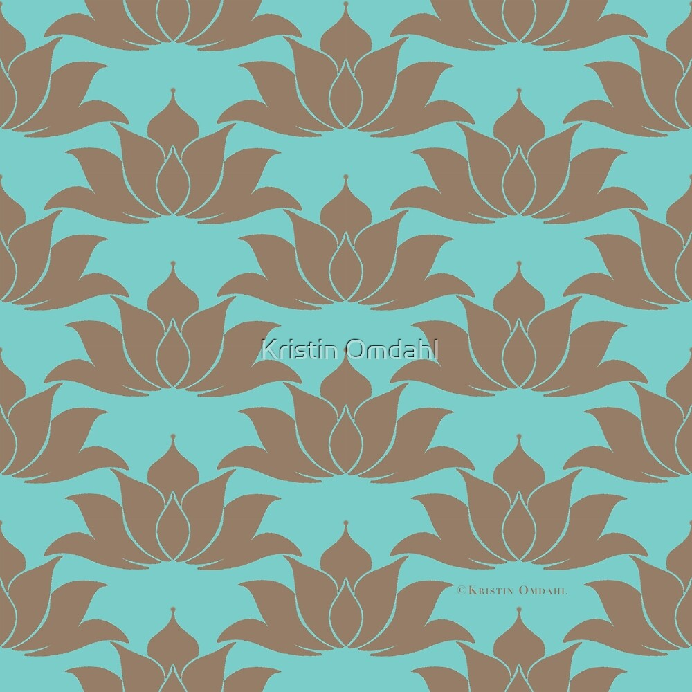 Lucky Lotus Pale Cyan Green by Kristin Omdahl