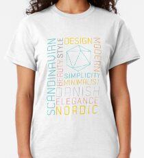 Scandinavian Typography Hexagon Pastel  Classic T-Shirt