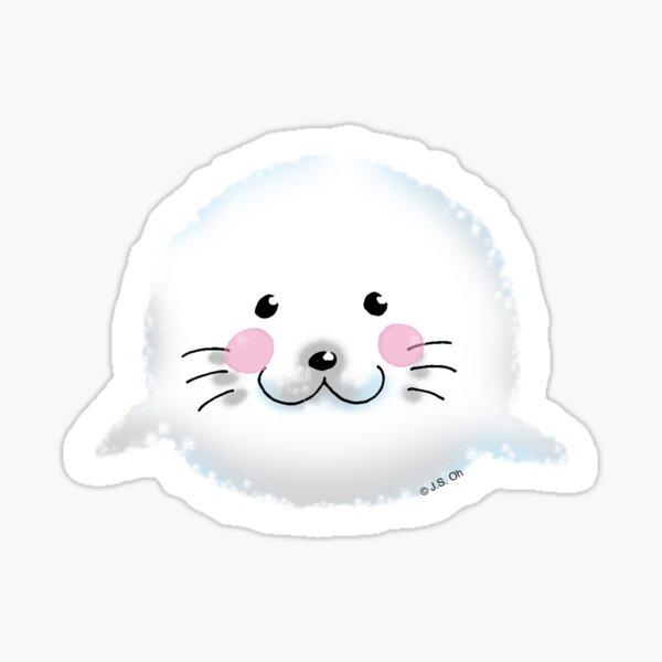 Cute baby seal animal cartoon Sticker