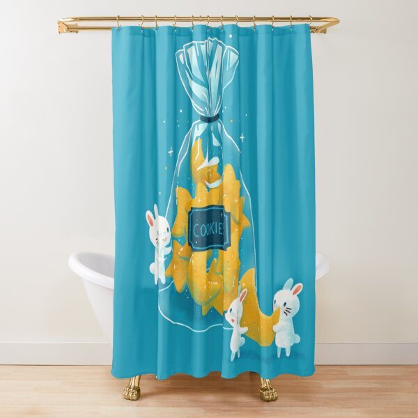 Star shaped cookies Shower Curtain