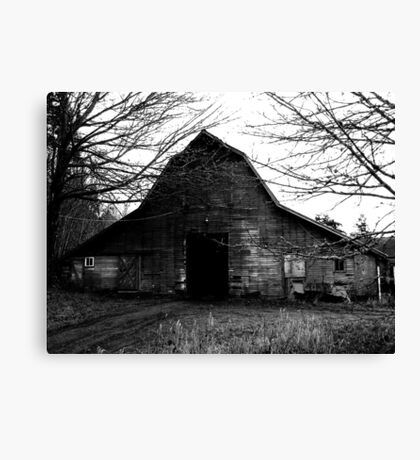 Old Creepy Barn Canvas Print