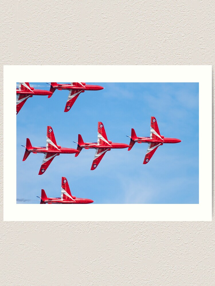 Alternate view of RAF Red Arrows Aerobatic Display Team Art Print