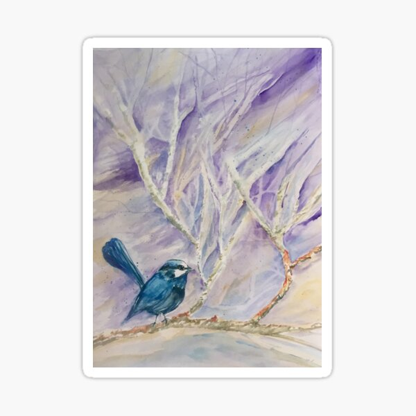 Little Blue Wren Sticker