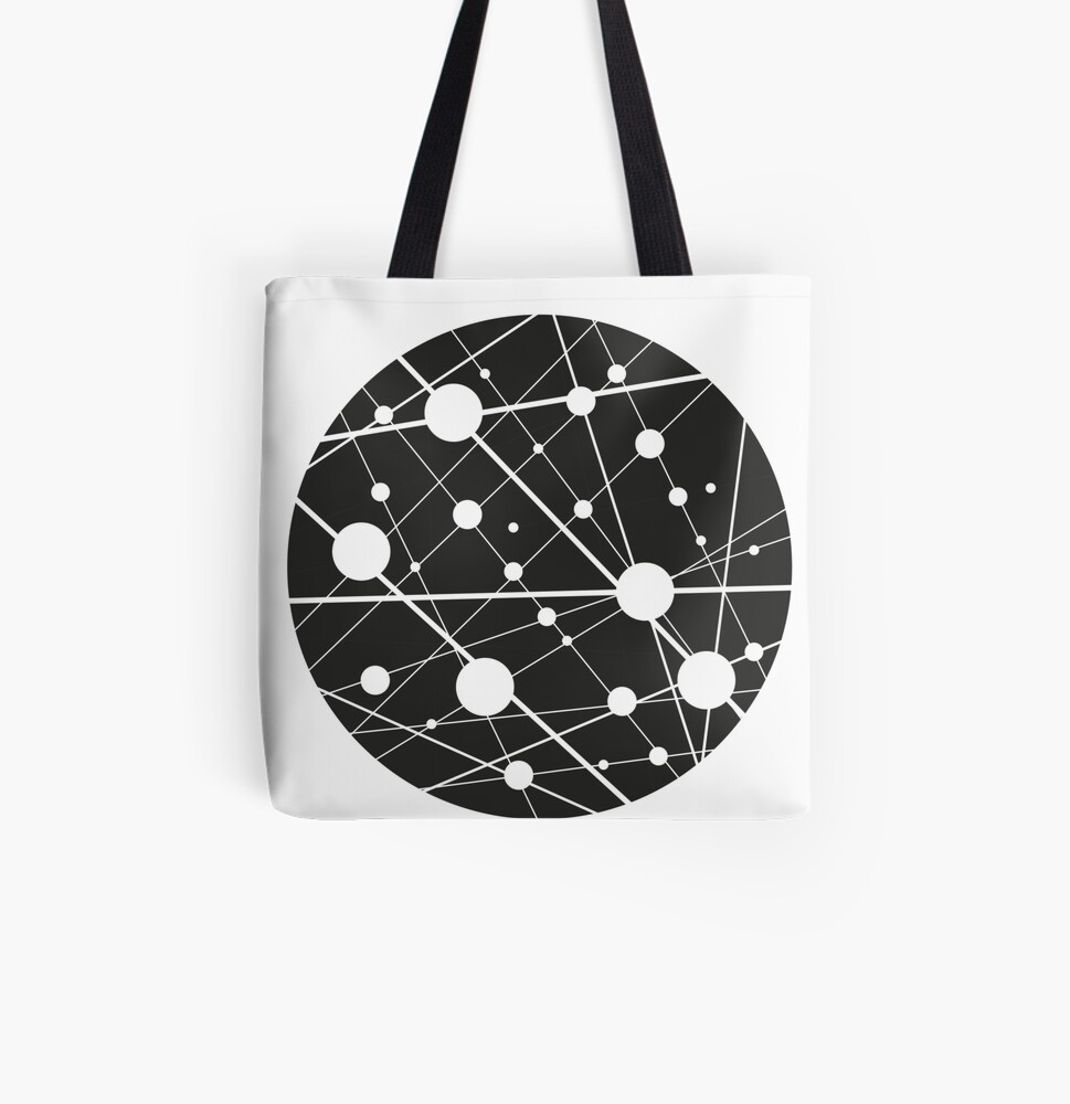 neurons All Over Print Tote Bag