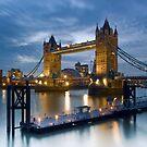 Tower Bridge and the Thames - London, England by Yen Baet
