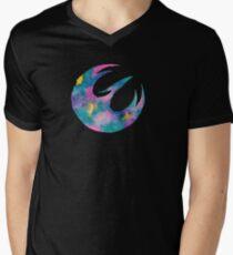 Watercolor Sabine (black) Mens V-Neck T-Shirt