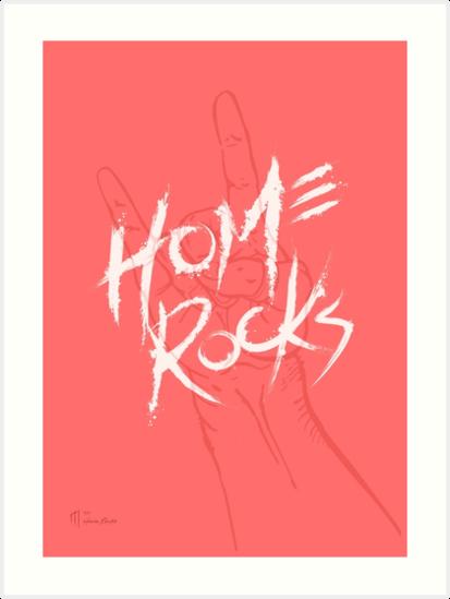 Home Rocks! (Coral) by Mpglenn