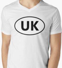 UK Sticker Men's V-Neck T-Shirt