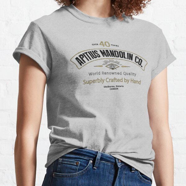Apitius Mandolins Logo in Black Classic T-Shirt