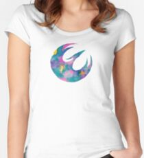 Watercolor Sabine (white) Women's Fitted Scoop T-Shirt
