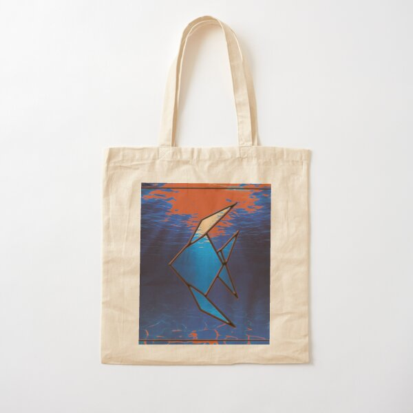 Tropical fish Cotton Tote Bag