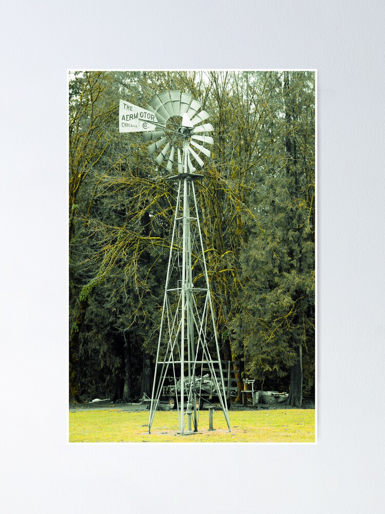 Alternate view of Old Windmill Poster