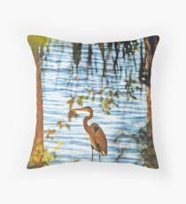 Hunting Heron... Throw Pillow