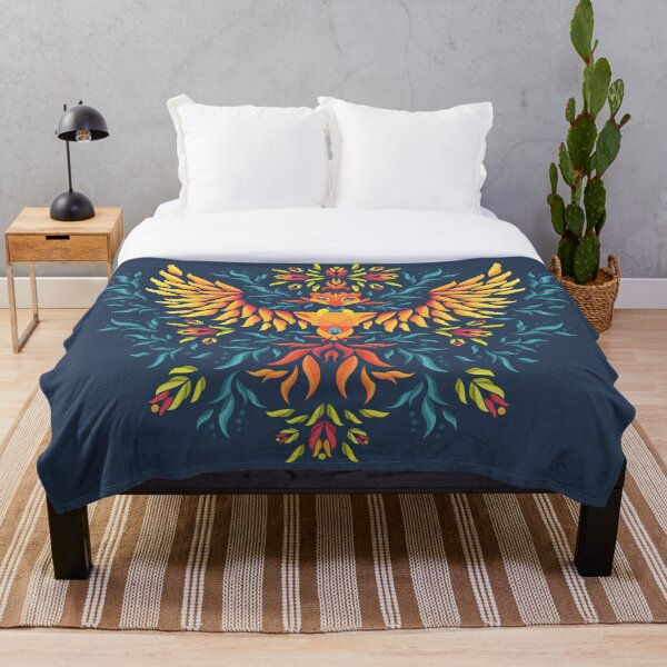 Phoenix Rising Throw Blanket