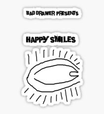 Bad Drawer Presents Happy Smiles Sticker