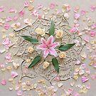Star Lily Sand Mandala by CarlyMarie
