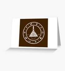 Bill Cipher - Brown Greeting Card