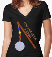You are such a boob.  Women's Fitted V-Neck T-Shirt
