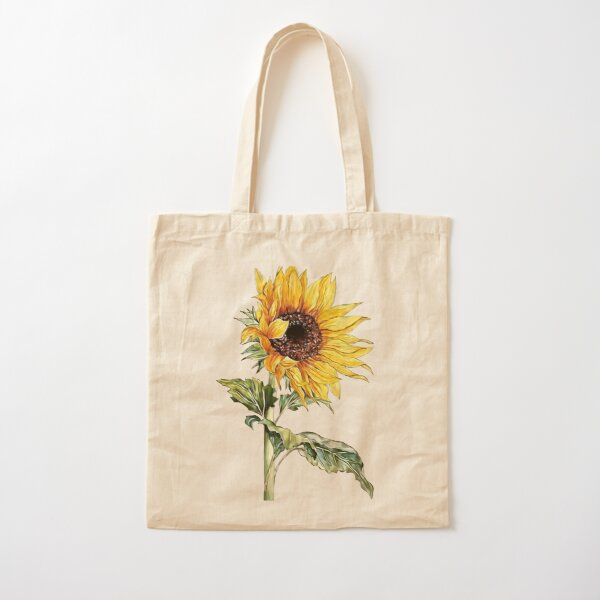 Sunflower Cotton Tote Bag