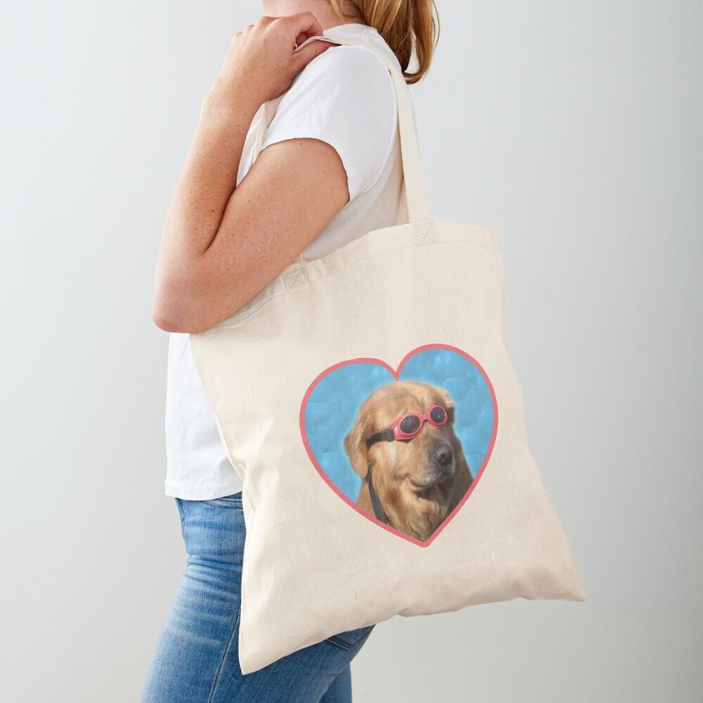 Doggo Stickers: Swimmer Dog Tote Bag