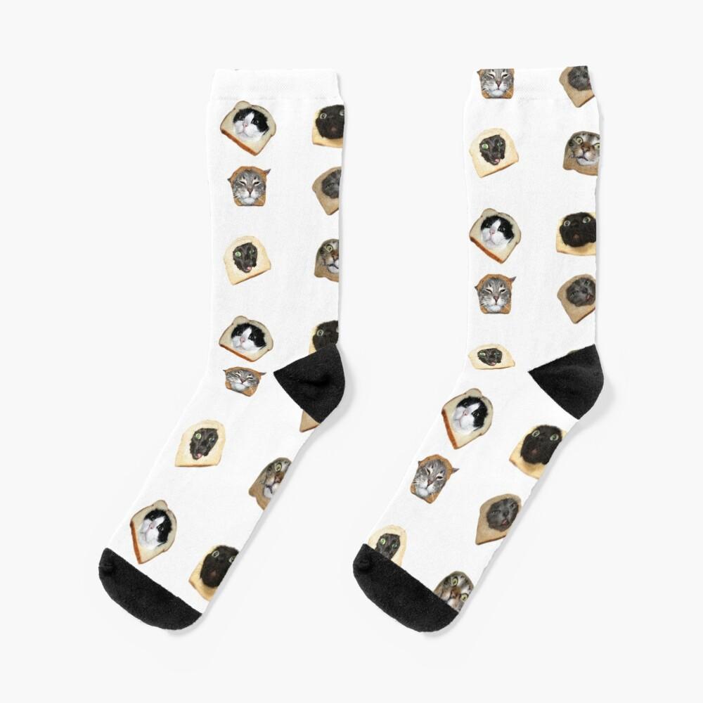 Bread Kitties Socks