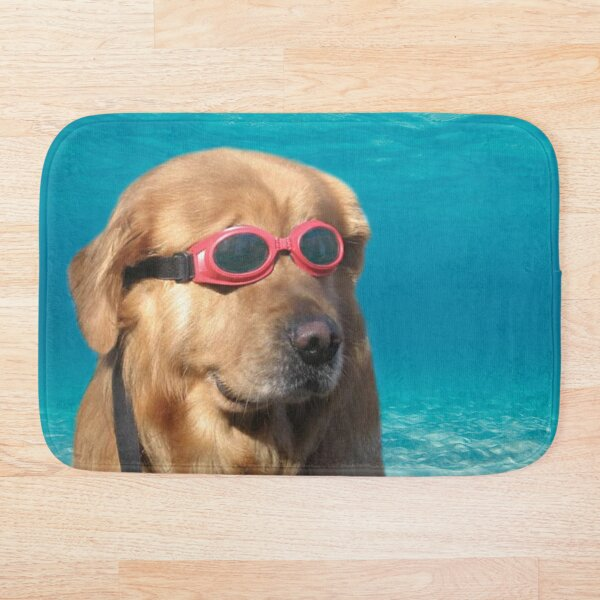 Swimmer Dog Bath Mat
