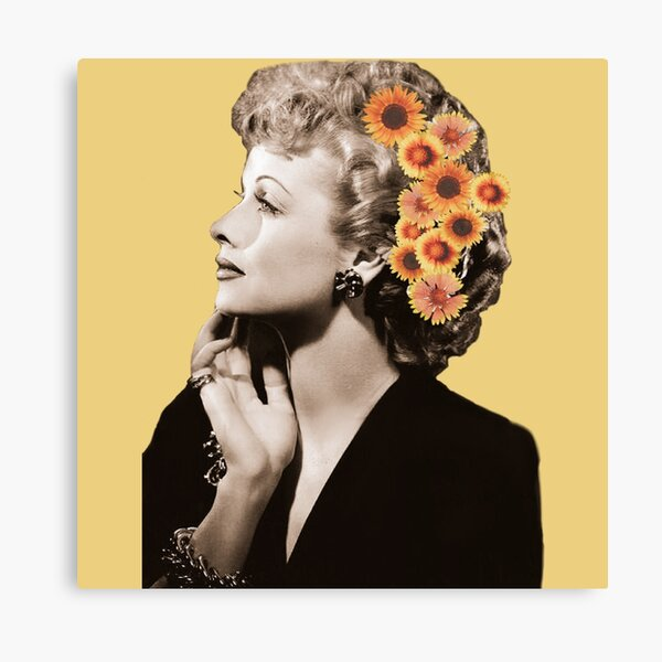 Lucille Ball Floral Canvas Print