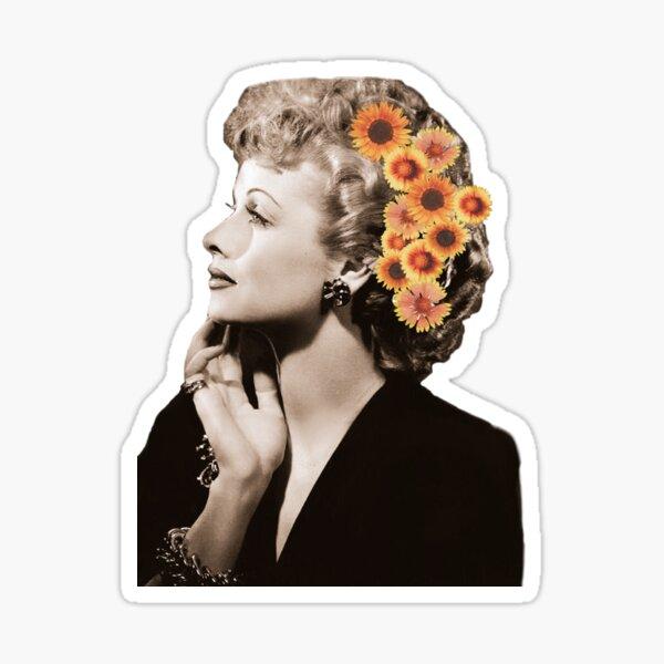 Lucille Ball Floral Sticker