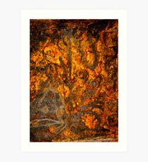 Rusty Abstract Art Print